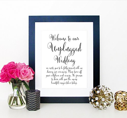 Unplugged Wedding Ceremony Sign, Unplugged Ceremony Sign, Un