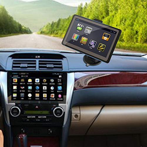 LAPUTA GPS & Accessories GPS Tracker 7 Inch Display Car Vehicle Bluetooth GPS Navigation SAT NAV 8GB with Sunshade