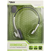 KMD Live Chat Headset with Mic: White for Xbox 360