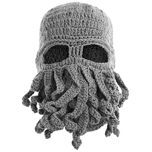 Futurama Halloween Special (Bess Bridal Breathable Tentacle Octopus Cthulhu Knit Beanie Hat Winter Ski Mask Windproof Cap)
