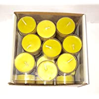 100% Organic natural Handmade Beeswax Tea Light Candles Pack of 12