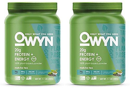 OWYN 100% Plant-Based Vegan Allergen-Friendly Protein-Powder, 28 Servings, 2 Count (Matcha Tea)
