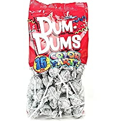 Silver Dum Dums Color Party - Tropi-Berry Flavored - 75 Count Bag - 12.8 ounces - Includes Free How To Build a Candy Buffet Guide