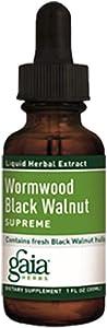 Gaia Herbs Wormwood Black Walnut Supreme, 1 fl oz (30 ml)