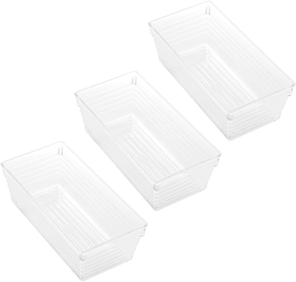 Plastica trasparente InterDesign Sierra Portaposate da cassetto ecc   Organizer cucina multiuso e multifunzione apribottiglie Portautensili da cucina per cucchiai