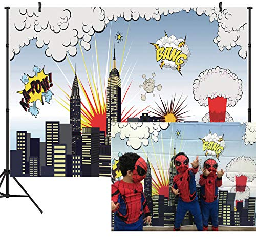 DULUDA 7X5FT Super City Vinyl Customized Photography Backdrop Background Studio Prop -