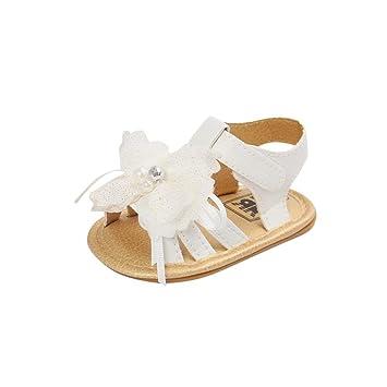 Zapatos de bebé Verano ❤ Amlaiworld Sandalias de Cristal de Perla Floral bebé niña recién