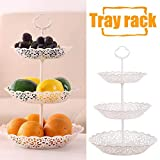 3 Tier Round Serving Tray Platters, Appetizer or Dessert Cupcakes And Cake Candy Buffet Stand Fruit Plate Centerpiece for Wedding, Home, Birthday Party Serving Platter