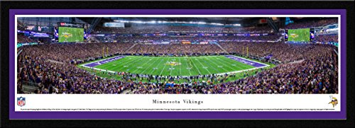 MN Vikings - 1st Game at US Bank Stadium - Blakeway Panoramas NFL Posters with Select Frame