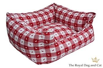 The Royal Dog & Cat Perros Cama Rectangular Nordland Rojo ...