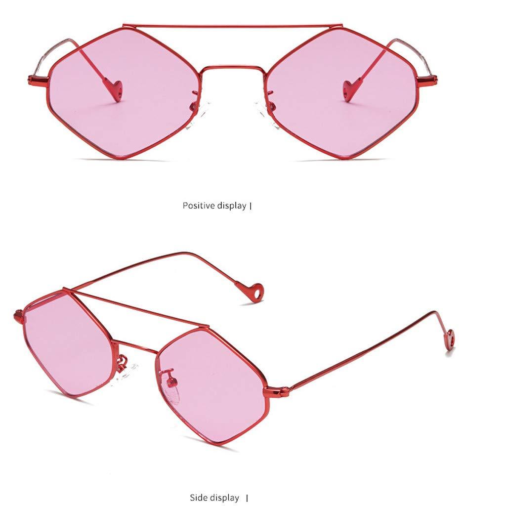 iYBUIA Colorful Vintage Eye Sunglasses Radiation Protection UV400