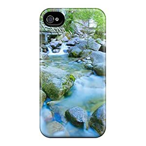 Awesome PlxAzio5918VGCkQ CADike Defender Tpu Hard Case Cover For Iphone 4/4s- Bridge Along A Fast Flowing River