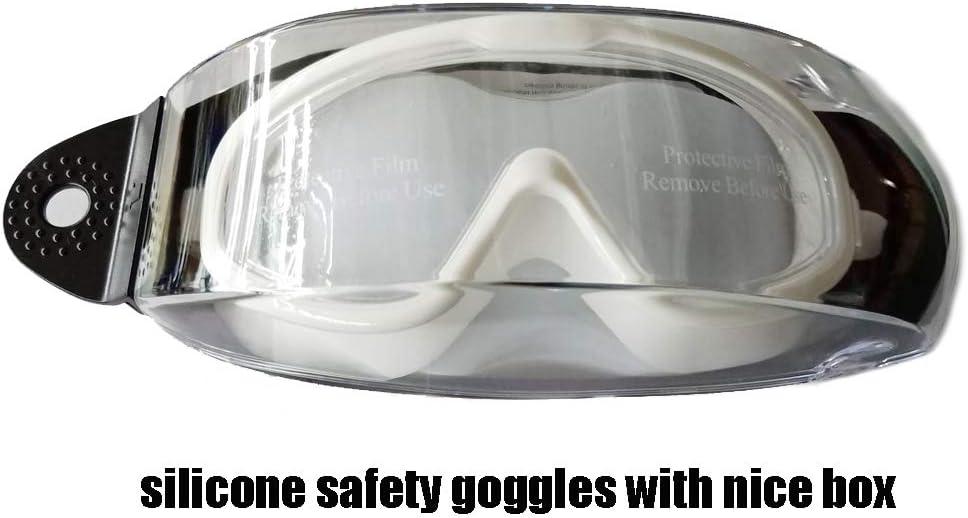 Super Soft Silicone Frames Anti-fog Protective Goggles Adjustable Chemical Splash Shield Protective Eyewear Splash Safety Goggles Virus Adult F7100 silicone +anti-fog