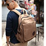 Zebella Vintage Canvas Laptop Backpack School Rucksack Weekender Daypack Bag