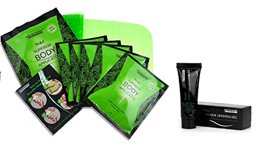 - 5 Ultimate Body Applicators and 1 Body Defining Gel, Body Wraps Works in Just 45 Minutes for Slimming, Detoxing and Firming