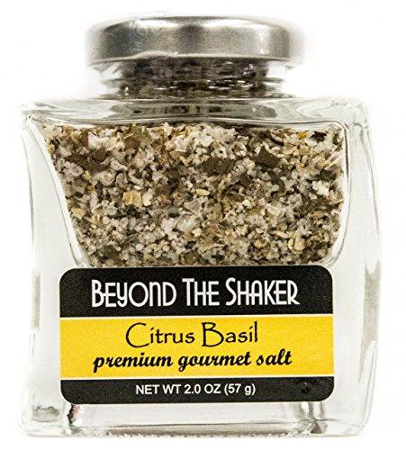 Citrus Basil Flavor - BEYOND THE SHAKER Citrus Basil Salt, 2 Ounce