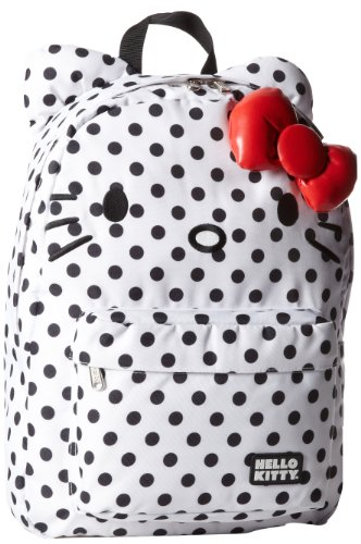 Hello Kitty Black and White Polka Dot Backpack -