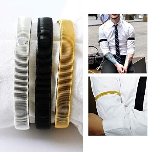 Men's Arm Warmers Original 1pc Men Shirt Sleeve Holder Casual Elastic Armband Anti-slip Metal Armband Stretch Garter Wedding Elasticate Armband Accessories