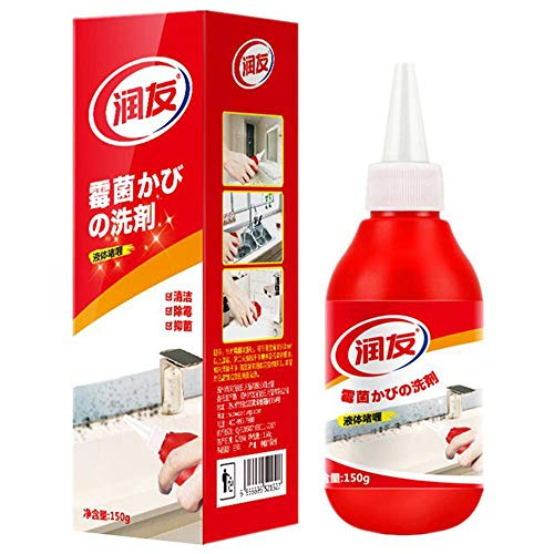 Volwco Mold Remover Gel, Anti-Odor Remover Cleaning Gel, Remover Gel, Household Miracle Deep Down Wall Remover Cleaner Caulk Gel, Kitchen and Bathroom Japanese Formula (Cleaning Mildew Mold And)