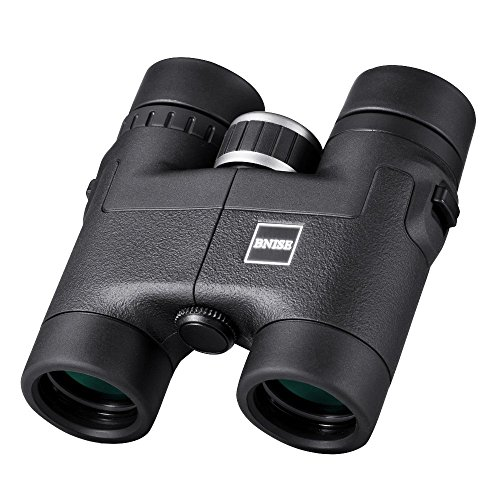 BNISE - 8X32 Compact Binoculars for Bird Watching - Lightweight Magnesium Alloy Body - FMC Optics and Phase Coated BaK-4 Prisms - Bright and Undistorted Image - Black (Lightweight Magnesium Body)
