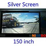 Best Portable Projection Screens - Hot Sell 16:9/4:3 Ratio Big Size 150 Inches Review