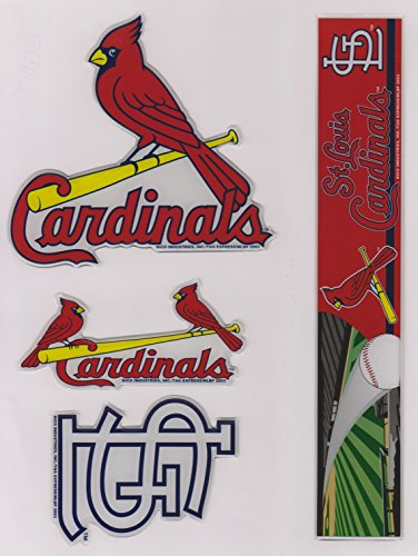RICO Industries St Louis Cardinals MLB Puffy Stickers - 4...