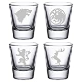 Game of Thrones - Etched Shot Glasses