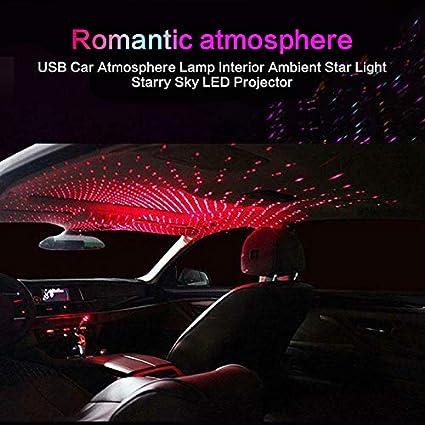 Projecteur d/'/étoiles de toit pour voiture lumi/ère LED de toit pour voiture lampe d/'ambiance /étoil/ée lampe de projection de ciel romantique C red light lampe de plafond d/écorative