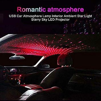 USB romantische Auto Dach Sterne Projektor Lichter f/ür Auto//Home Party ANYIKE Auto Sterne Nachtlichter