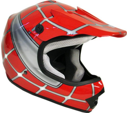 AMZ Off Road Motocross Motorcycle Helmets for Kids(Spider Red,X-Large)[DOT] ATVs/UTV/Dirt-Bike/Go-cart/Adventure