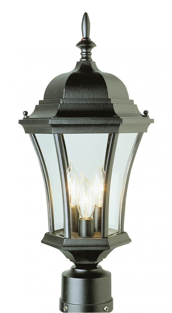 Amazon Com Trans Globe Lighting 4504 Bk Outdoor Burlington 21 25 Postmount Lantern Black Outdoor Post Lights Patio Lawn Garden