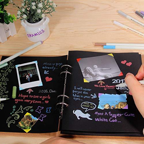 Metallic Markers Glitter Paint Pen Calligraphy Brush Pens, Ohuhu Set of 10 for DIY Birthday Greeting Gift Thank You Card, Scrapbook Photo Album, Rock Art Painting, Brush Tip Back to School Art Supply by Ohuhu (Image #3)
