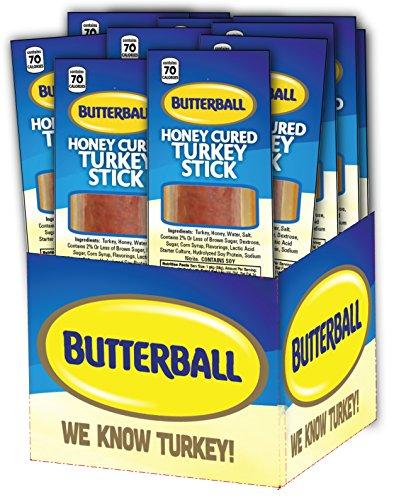 Butterball Honey Cured Turkey Sticks (1 oz Stick - Box of 20) Wild Turkey Turkey Honey