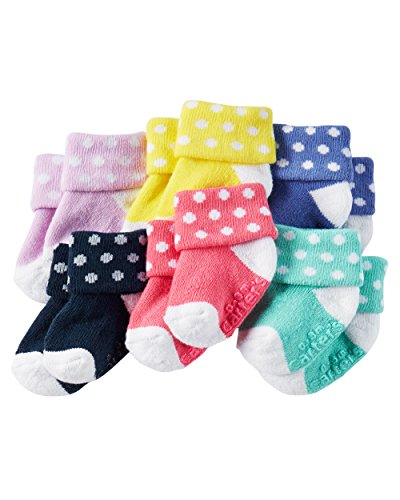 Carter's Baby-Girls Socks, Polka Dots, 12-24 Months (Pack of 6)