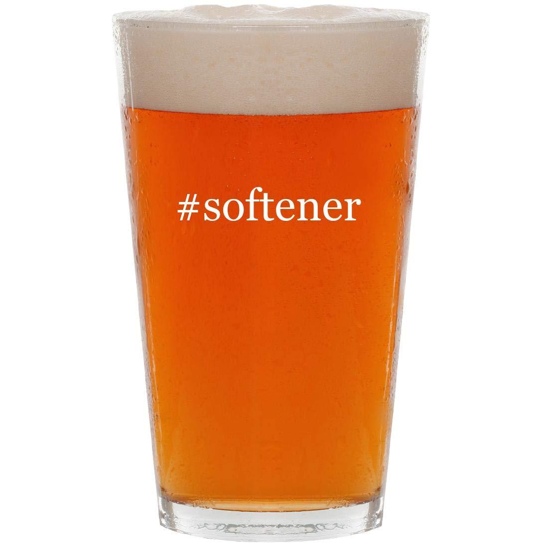 #softener - 16oz Hashtag Pint Beer Glass