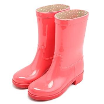 Brisk- Fashion Tube Stiefel Erwachsene Stiefel Warm Water Schuhe Küche Gummi Schuhe rutschfeste Student Regen Boot ( Farbe : Pink , größe : EU38/UK5.5/CN38 )