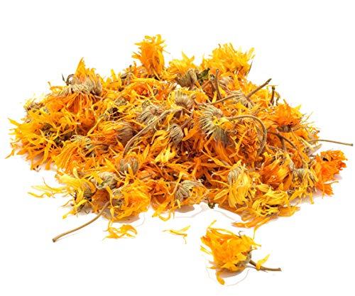 Handpicked Organic Whole Calendula Flowers - Antifungal, Anti-inflammatory, Antibacterial, Wound Healing, Immune System Support, Stimulates Menstrual Flow, Burn & Rashes -from Egypt- (16 oz) -1 lb