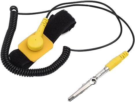 Bracelet antistatique antistatique ajustable avec mise à la terre du bracelet FR