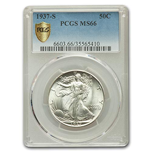1937 S Walking Liberty Half Dollar MS-66 PCGS Half Dollar MS-66 PCGS
