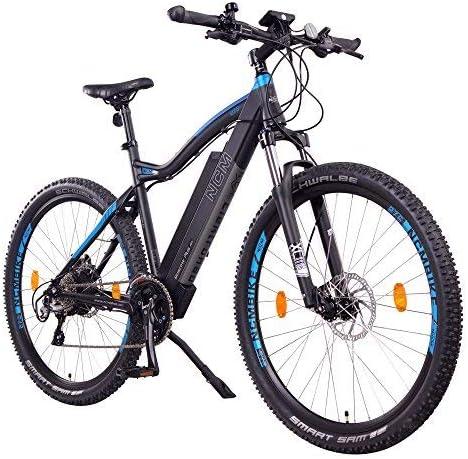 NCM Moscow Plus - Bicicleta de montaña eléctrica, 48 V, 27,5 / 29 pulgadas, 250 W, motor trasero Das-Kit, batería de 14/16 Ah, 672/768 Wh + celdas de iones de litio Panasonic,