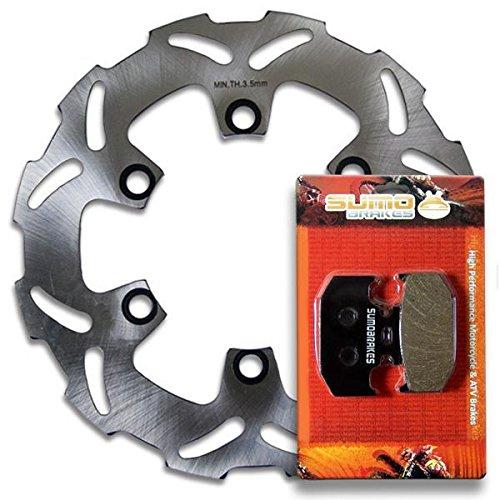 Sumo - Kawasaki Rear Rotor Disc + Brake Pads KDX 200 (1995-2006) 220 (97-05) 250 (91-94) by Sumo Brakes