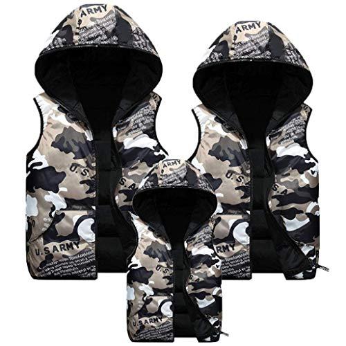 Elodiey Giacche Uomo Capispalla Giubbotto Coat Cappotto Da Soprabito Giovane Paternity Schwarz Con Camouflage Cappuccio rgq5r