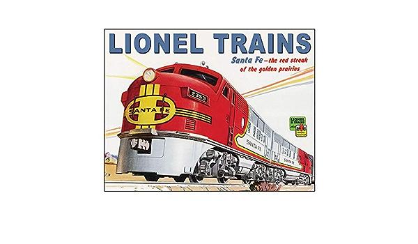 1956 Lionel train Model Railroad railway metal tin sign living room wall decor