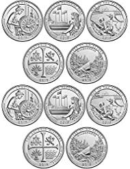 2019 P and D Complete Set of 10 National Park Quarters Uncirculated