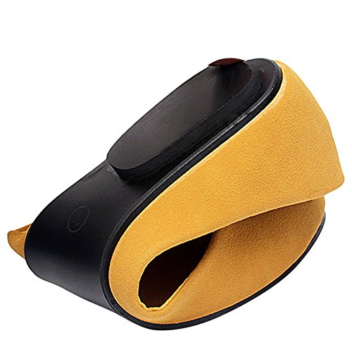 Amarillo con amarillo OCHENTA mujer cuña Sandalias SnfqxqIXR