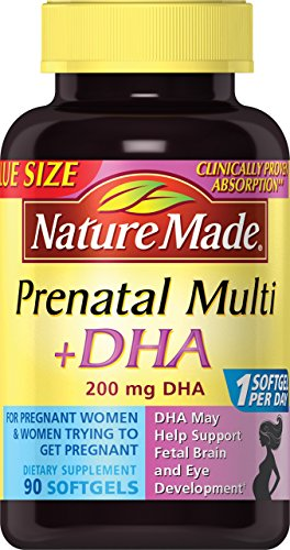 Nature Made Prenatal + DHA 200 mg Softgels Value Size 90 Ct