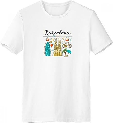 DIYthinker Barcelona, Sagrada Familia española Escote de la Camiseta Blanca de Primavera y Verano de Tagless Comfort Deportes Camisetas de Regalos - Multi - XXXL: Amazon.es: Deportes y aire libre