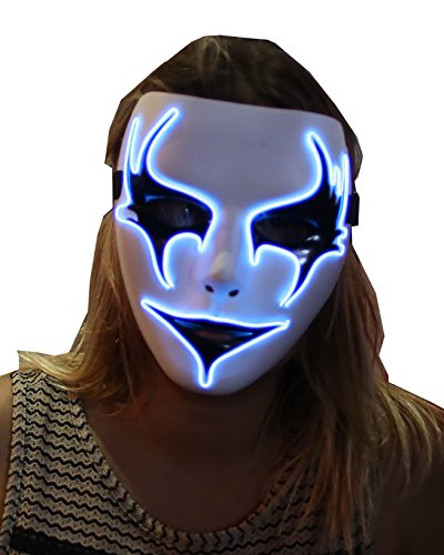 Electric Masks. light up Vendetta scary Halloween party mask (Horror) (Halloween Rave)