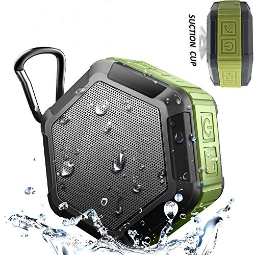 KEROLFFU M5 Outdoor Travel Shower Waterproof Bluetooth Speaker with 15Hour Rechargeable Battery (Black