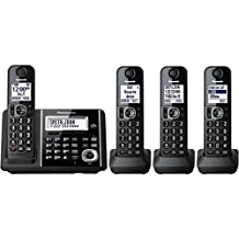 Panasonic KX-TGF344B DECT 6.0 1.9 GHz Expandable Digital Cordless Phone (4 Handsets) Electronics Accessories